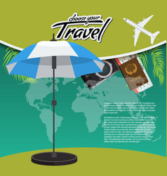 3d realistic travel and tour creative poster vector