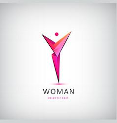 Abstract human logo woman body health vector