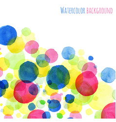 Abstract watercolor painted round vector