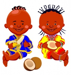 African kids vector