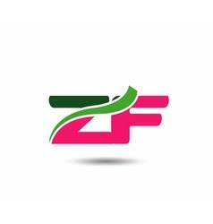 Alphabet Z and F letter logo vector image
