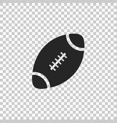 american football ball icon isolated vector image
