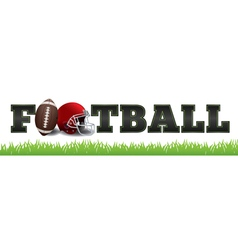 American Football Word Art vector image