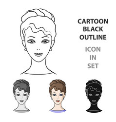 avatar of a girl with brown hairavatar and face vector image