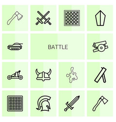 Battle icons vector