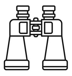 Binoculars icon outline style vector