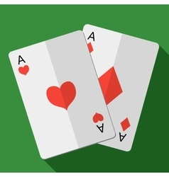 card pair aces vector image