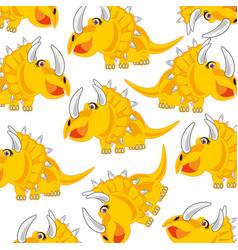 Cartoon of the dinosaur eotriceratops decorative vector