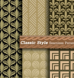 Classic style seamless pattern vector