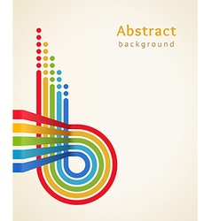 Colored stripes with circles vector