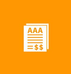 Credit rating icon finance vector