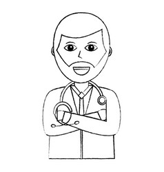 Doctor physician medical staff portrait character vector