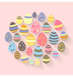 Easter eggs icons set vector