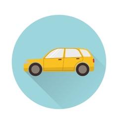 Flat car icon vector