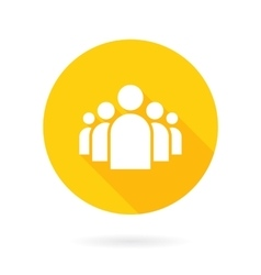 flat group people icon symbol background vector image