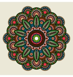 Floral bright colored mandala vector image