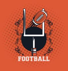 Football balloon icon vector