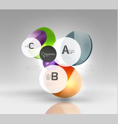 Glass circles banner vector