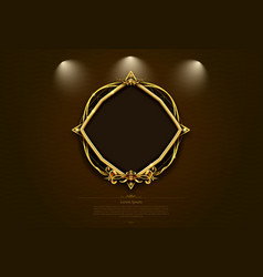 gold frame border picture retro art vector image