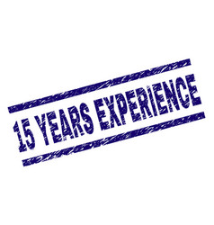 Grunge textured 15 years experience stamp seal vector