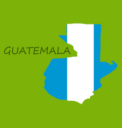 Guatemala map with shadow effect vector