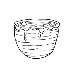 Halloween doodle vat potion element isolated vector