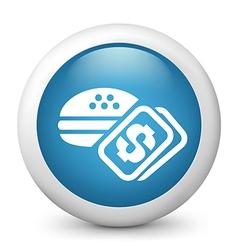 Hamburger glossy icon vector