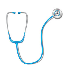 Health care concept with blue stethoscope mockup vector
