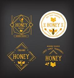 Honey label design Bee badge vector image