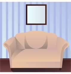 Interior with couch vector