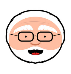 isolated grandfather avatar vector image