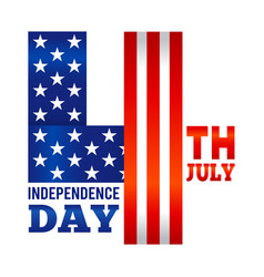 july fourth american independence day symbol vector image