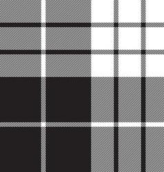 Macleod tartan black white seamless pattern vector
