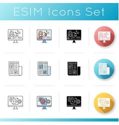 Marketing icons set vector