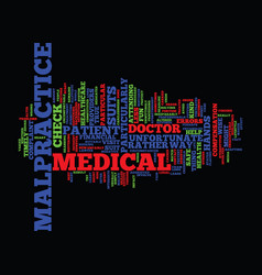 medical malpractice are you in safe hands text vector image