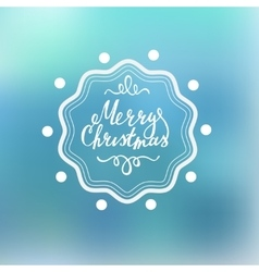 Merry Christmas Lettering on a blured background vector image