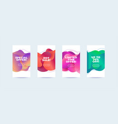 modern abstract sale banners set flat vector image