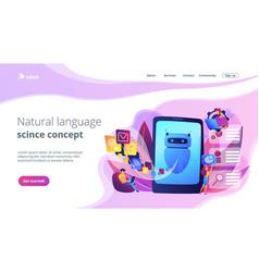 Natural language processing concept landing page vector