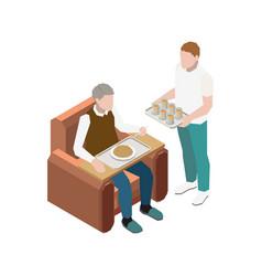 Nursing home icon vector