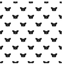 origami butterfly pattern seamless vector image