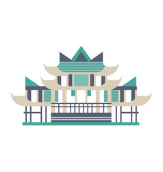 pagoda asian traditional building vector image