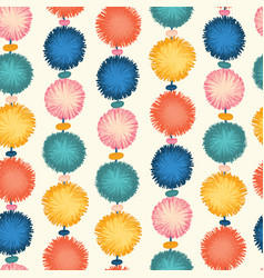 party pom poms seamless repeat pattern vector image