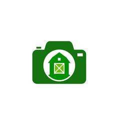 Photography farm logo icon design vector