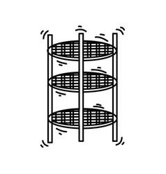playground kids spider tower vector image