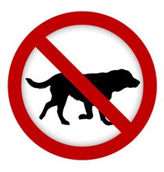 prohibition dog sign vector image vector image