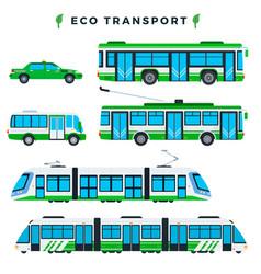 public eco transport municipal city ecologically vector image