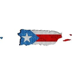 Puerto Rico map with flag inside vector