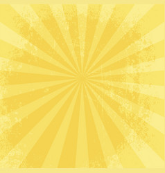 retro yellow grungy star bust background vector image