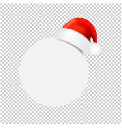 Santa claus cap with ball banner transparent vector