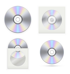 set of the cd disks vector image